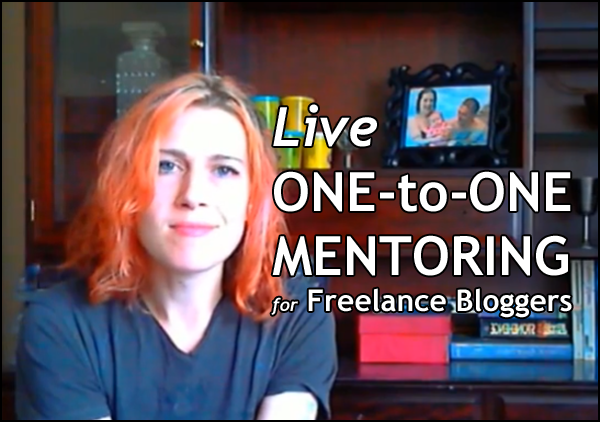 One-to-one mentoring for freelance bloggers